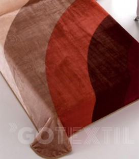 Detalle del Tejido de la Manta Edén Deluxe AMANECER Chocolate