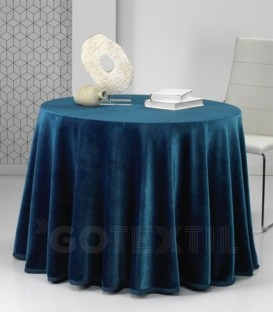 ¡ENVÍO GRATIS! Falda Mesa Camilla Redonda PREMIUM Azul MORA