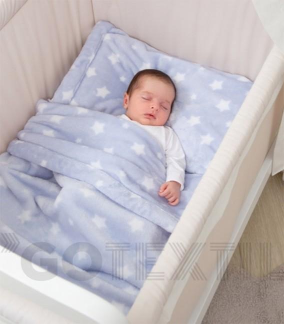 Sábanas Cuna Invierno Sedalina VELVET 21316 Baby Happy Azul
