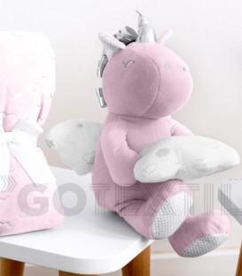 Muñeco Unicornio y Manta Unicornio Rosa bebé 21311 Baby Happy