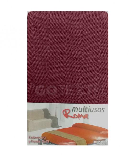 Foulard Cubre Sofá ROMA GRANATE Multiusos