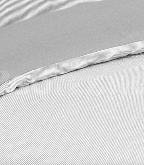 ¡ENVÍO GRATIS! Funda Nórdica Elegante Algodón CHICAGO Color Gris Cama de 150cm. ATENAS