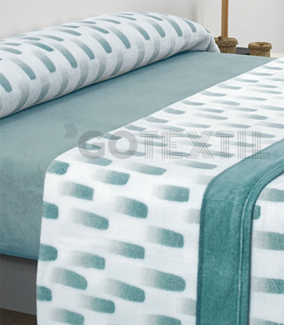 ¡ENVÍO GRATIS! Juego de Sábanas Coralina MICROCORAL I80 Turquesa Textils Mora