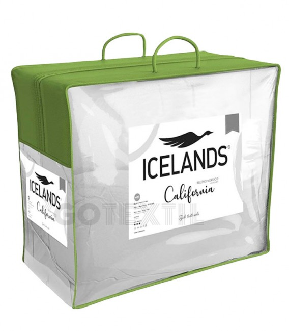 ¡ENVÍO GRATIS! Relleno Nórdico Icelands CALIFORNIA DUO 250+125 gr/m2 Blanco Bolsa