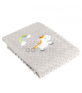 Manta Unicornio gris para Bebé VOLVORETA F75 MORA 80X110cm