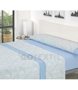 ¡ENVÍO GRATIS! Juego de sábanas J12 Azul Textils Mora