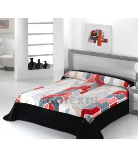 ¡ENVÍO GRATIS! Manta Cama PREMIUM C52 Negro 220X240CM. Textils Mora