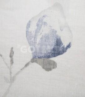 Cortina confeccionada con Ollaos 91281 Azul 145X260cm BH TEXTIL