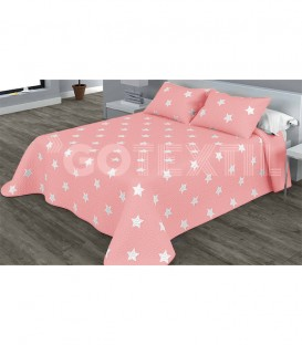 ¡ENVÍO GRATIS! Colcha Bouti Estampada YILDA Reversible Color Rosa Home'secret