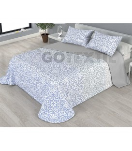 ¡ENVÍO GRATIS! Colcha bouti estampada NAIARA reversible color gris Home'secret
