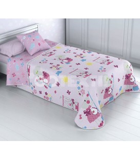 ¡ENVÍO GRATIS! Colcha Bouti Infantil Reversible RATITA PRESUMIDA Home'secret