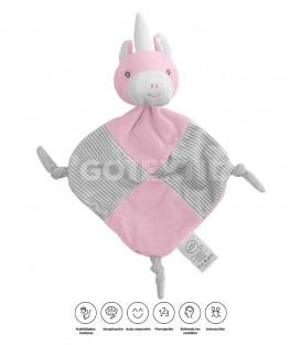 DOUDOU UNICORNIO 21321 BABY HAPPY ROSA