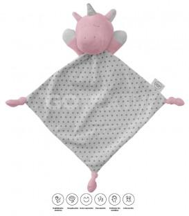 DOUDOU 21350 UNICORNIO DURMIENTE BABY HAPPY ROSA