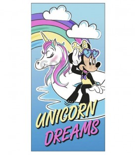 Toalla Playa MINNIE MOUSE 70X140 UNICORN DREAMS Microfibra