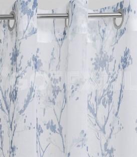 Cortina confeccionada con Ollaos 91300 Azul BH TEXTIL 145X260cm