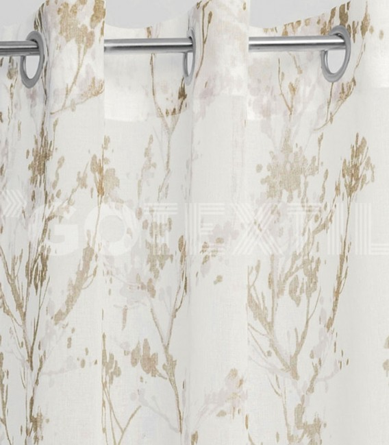 Cortina confeccionada con Ollaos 91300 Beige BH TEXTIL 145X260cm