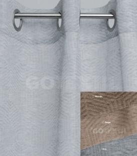 Cortina confeccionada con Ollaos 91298 BH TEXTIL 145X260cm