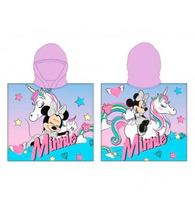Poncho playa MINNIE MOUSE UNICORNIO DISNEY 55x110cm con capucha