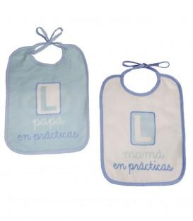 Pack 2 Baberos DUFFI 5027 PRÁCTICAS AZUL IMPERMEABLE 20X26cm