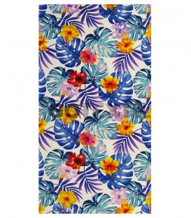 TOALLA PLAYA TROPICAL FLOWER Microfibra 90x170cm