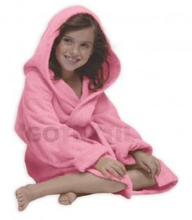 TROVADOR Albornoz Infantil con capucha CALYPSO Rosa