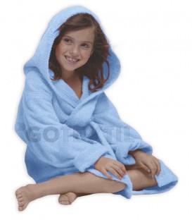 TROVADOR Albornoz Infantil con capucha CALYPSO Celeste