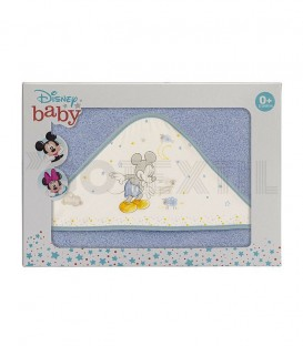 Capa de Baño Disney Counting Sheep MICKEY Azul 100% Algodón