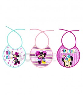Pack 3 Baberos Rizo MINNIE R20 INTERBABY