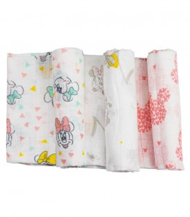 GOTEXTIL Pack 3 Gasas Estampadas MINNIE MN018 80X80cm Disney INTERBABY