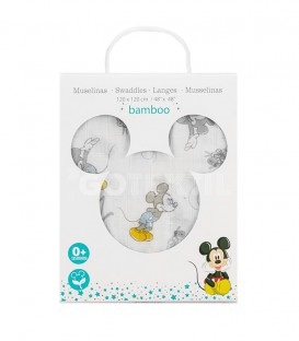 Disney. Gasa Muselina MICKEY COUNTING SHEEP MK019 Algodón 120X120cm INTERBABY