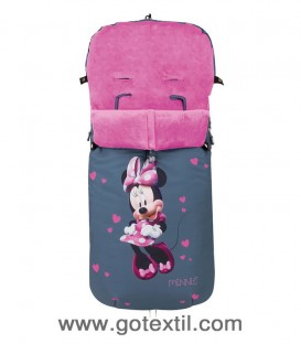 SACO CARRO UNIVERSAL 10070 MINNIE BLOSSONS DISNEY INTERBABY - GOTEXTIL