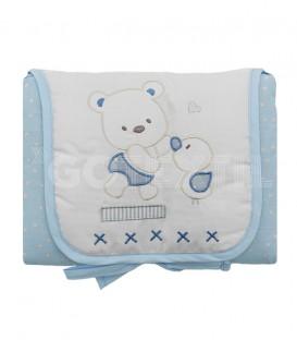 Cambiador de Viaje para Bebé 142 Blanco / Azul. Vidal Home - GOTEXTIL