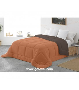 Edredón Nórdico BICOLOR HORUS Reversible Naranja/Marrón. Miracle Home - GOTEXTIL