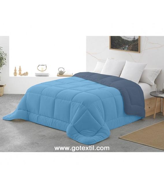 Edredón Nórdico BICOLOR HORUS Reversible Azul/Celeste Miracle Home - GOTEXTIL