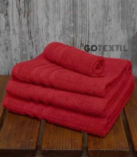 Toalla de Rizo Americano 100% Algodón Color Rojo. VIDAL HOME - GOTEXTIL