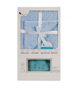 Manta Burbuja + Lamparita modelo NUBE Azul. INTERBABY - GOTEXTIL