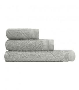 GOTEXTIL Juego de toallas 3 Piezas CONCEPT color Gris rizo algodón. Vidal Home