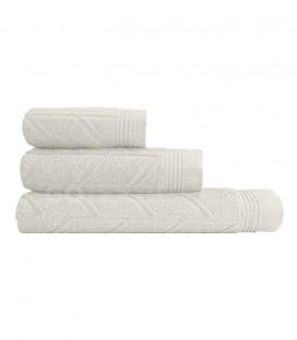 GOTEXTIL Juego de toallas 3 Piezas CONCEPT color Blanco natural. Vidal Home