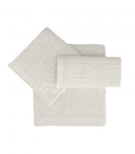 GOTEXTIL Juego de toallas 3 Piezas CONCEPT color Blanco natural algodón Vidal Home