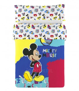 GOTEXTIL Funda Nórdica Reversible 2 piezas MICKEY PATCH