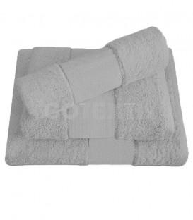Juego de toallas TROVADOR 601 color GRIS con cenefa PANAMÁ Punto de Cruz - GOTEXTIL