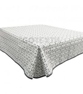 GOTEXTIL Tapete mesa camilla rectangular modelo OLMECA GRIS Marcavi
