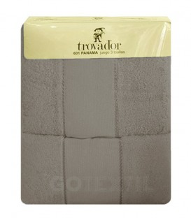 GOTEXTIL Juego de toallas TROVADOR 601 color BEIGE con cenefa PANAMÁ para bordar Punto de Cruz Baratos