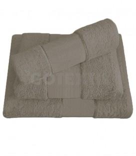 GOTEXTIL Juego de toallas TROVADOR 601 color BEIGE con cenefa PANAMÁ para bordar Punto de Cruz