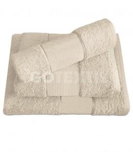 GOTEXTIL Juego de toallas TROVADOR 601 color NATURAL con cenefa PANAMÁ para bordar Punto de Cruz