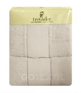GOTEXTIL Juego de toallas TROVADOR 601 color NATURAL con cenefa PANAMÁ para bordar Punto de Cruz Baratos