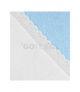 GOTEXTIL Capa Baño de bebé PANAMÁ color Azul de Algodón. Especial para bordar