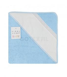 GOTEXTIL Capa Baño de bebé PANAMÁ color Azul. Especial para bordar