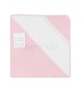 GOTEXTIL Capa Baño de bebé PANAMÁ color Rosa. Especial para bordar