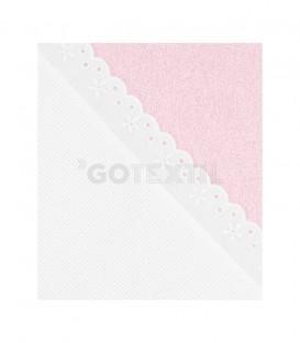 GOTEXTIL Capa Baño algodón de bebé PANAMÁ color Rosa. Especial para bordar